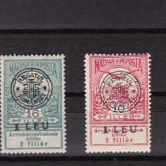 ROMANIA 1919 POSTA LOCALA CLUJ LOT TIMBRE CU SARNIERA - Timbre Romania, Nestampilat