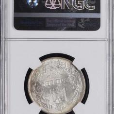 250 LEI 1941 NSD - MS 61 - GRADATA NGC - MONEDA DE COLECTIE - Moneda Romania, Argint