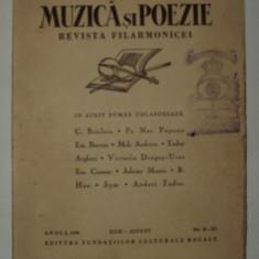 Muzica si poezie, 1936 , revista filarmonicei filarmonicii, Constantin Brailoiu, Alta editura, Nicolae Iorga