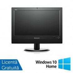 All In One LENOVO M72z 20 inch 1600x900, Intel Core i3-3220 3.3GHz, 4GB DDR3, 500GB SATA, DVD-RW + Windows 10 Home - Sisteme desktop cu monitor