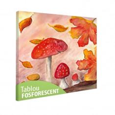 Tablou fosforescent Ciuperci de toamna - Tablou canvas
