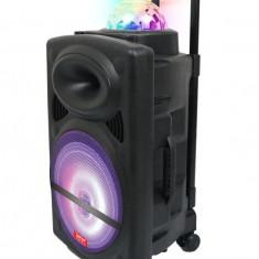 Cumpara ieftin LICHIDARE STOC!BOXA ACTIVA TROLER,MIXER,MP3 PLAYER USB,BLUETOOTH,MICROFON,LUMINI