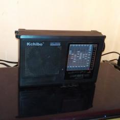 RADIO PORTABIL SI LA BATERII KCHIBO KK-2009 WORD RECEIVER 9 BENZI - Aparat radio, Analog, 0-40 W