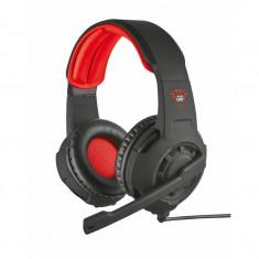 Casti audio gaming Trust GXT 310, 3.5 mm Jack, Negru/Rosu - Casca PC Trust, Casti cu microfon