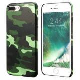 Husa spate soft case silicon camuflaj army Iphone 7 verde, iPhone 7/8
