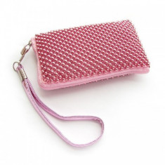 Husa Sony Ericsson Xperia Arc S Aluminium Pink Size L, Textil