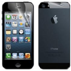 Folie protectie display iPhone 5/5S (fata + spate) - Folie de protectie