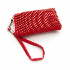 Husa Sony Ericsson Xperia X8 Aluminium Red Size L - Husa Telefon, Textil