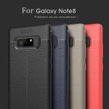 Husa / Bumper Antisoc model PIELE pentru Samsung Galaxy Note 8 / Note8, Alt model telefon Samsung, Negru
