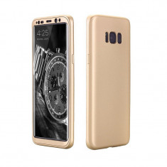 Husa fata-spate pentru Samsung S8 PLUS - Gold - Husa Telefon Samsung, Samsung Galaxy S8 Plus, Auriu, Carcasa