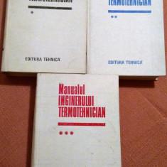 Manualul Inginerului Termotehnician. Bucuresti, 1986. 3 Volume  -   Bazil Popa, Alta editura