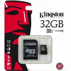 Card de memorie Kingston microSDHC 32GB, Class 10 + Adaptor - Card memorie