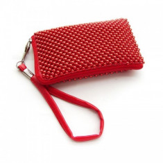 Husa Sony Ericsson Xperia Play Aluminium Red Size L - Husa Telefon, Textil
