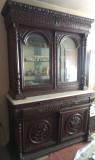Vitrina - dulap lemn trandafir