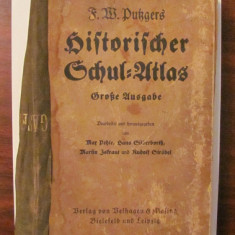 """PVM - F. W. PUTZGERS """"Historicher Schul ATLAS"""" 1937 / limba germana"""