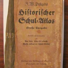"PVM - F. W. PUTZGERS ""Historischer Schul ATLAS"" 1937 / limba germana"