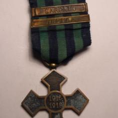 Crucea Comemorativa 1916 1918 cu Baretele Carpati si Ardeal - Ordin