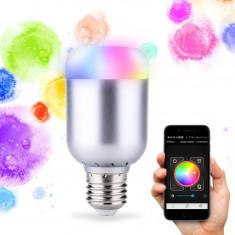 Bec inteligent LED, bluetooth 4.0, 12 W, RGBW, Lixada SU-600 - accesoriu mobila