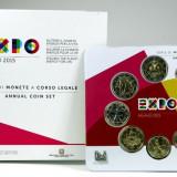 "ITALIA 2015  1 Cent-2 Euro + 2 Euro Comemorativ  - ""Expo Milano"" Folder / BU, Europa"