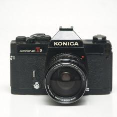 Konica Autoreflex T3 + Konica 35mm 2.8 - Aparate Foto cu Film