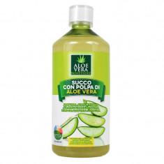 Suc organic de Aloe Vera cu pulpa Benessere, 1000 ml