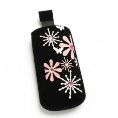 Husa Nokia 3250 Pink Flowers Strap Size M - Husa Telefon