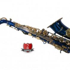 Saxofon ALTO Sax Karl Glaser curbat  ALBASTRU+AURIU NOU ALT Saxophone Germania