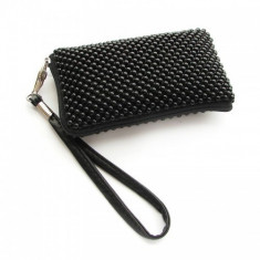 Husa Sony Ericsson Xperia X8 Aluminium Black Size L - Husa Telefon, Textil