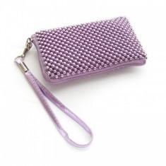 Husa Sony Ericsson Xperia Arc S Aluminium Purple Size L, Textil