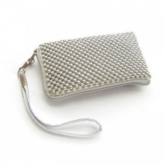 Husa Sony Ericsson Xperia Arc S Aluminium Silver Size L, Textil
