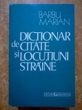 Barbu Marian – Dictionar de citate si locutiuni straine