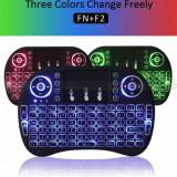 Tastatura wireless  I8 Mini Keyboard backlight 3 culori pt TV BOX - GARANTIE