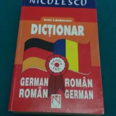 DICȚIONAR GERMAN ROMÂN* ROMÂN GERMAN/IOAN LĂZĂRESCU/2002