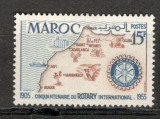 Maroc.1955 50 ani Rotary International  MM.67, Nestampilat