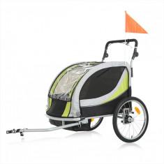 NOU! Remorca bicicleta Samax Premium, Verde-Negru