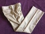 Pantaloni dama MASSIMO DUTTI, mas. 40 2+1 gratis, Lungi, Bej