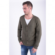 Cardigan Only&Sons Bano Knit Cardigan Olive Night - Pulover barbati Only & Sons, Marime: L, Culoare: Khaki, Bumbac