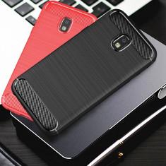 Carcasa de protectie Carbon Fiber din silicon TPU pt Samsung Galaxy J7 2017