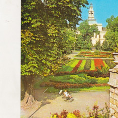 Bnk cp Arad - Vedere din parc - circulata - marca fixa - Carte Postala Crisana dupa 1918, Printata