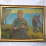 GEO CARDAS - 1891-1949 - PESCARI - ulei pe pînza - Pictor roman, Peisaje, Realism