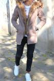 Geaca iarna PARKA bej - geaca barbati - geaca slim fit COLECTIE NOUA 9334, XL, Din imagine