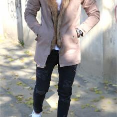 Geaca iarna PARKA bej - geaca barbati - geaca slim fit COLECTIE NOUA 9334, Marime: XL, Culoare: Din imagine