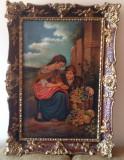 TABLOU ANII 1930 SEMNAT ULEI PE PANZA RAMA PICTOR ROMAN, Scene gen, Impresionism