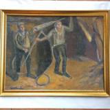 GEO CARDAS - 1891-1949 - MINERI - ulei pe pînza - Pictor roman, Peisaje, Realism