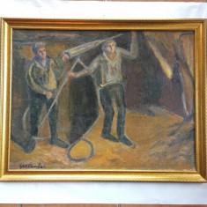 GEO CARDAS  - 1891-1949 - MINERI  - ulei pe pînza