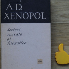 Scrieri sociale si filozofice A D Xenopol, A.D. Xenopol