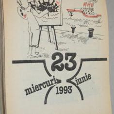 Calendar vechi 1993 - Globus - caricaturi - Calendar colectie