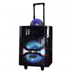 Boxa karaoke tip troler Icarus IC-SS13, USB, lumini