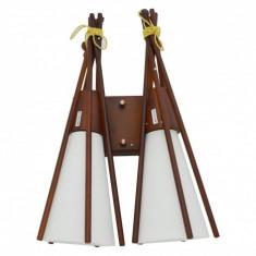 Aplica Indiana, lemn, 2XE27, YI-8328/2W - Corp de iluminat, Aplice