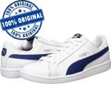Pantofi sport Puma Smash pentru barbati - adidasi originali - piele naturala, 38.5, 39, 40.5, 44.5, Alb